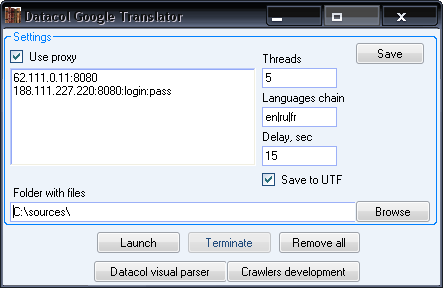 Multilanguage batch translator
