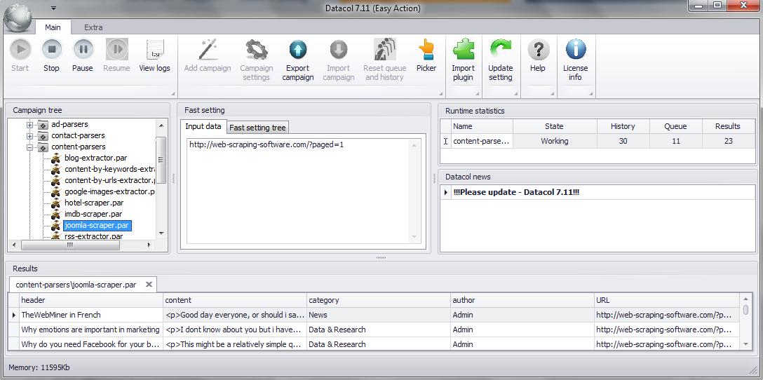 Joomla extractor - free download and test - Website